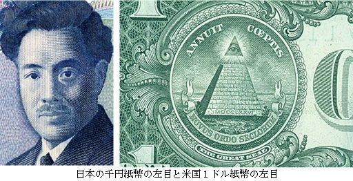 一ドル札と千円札