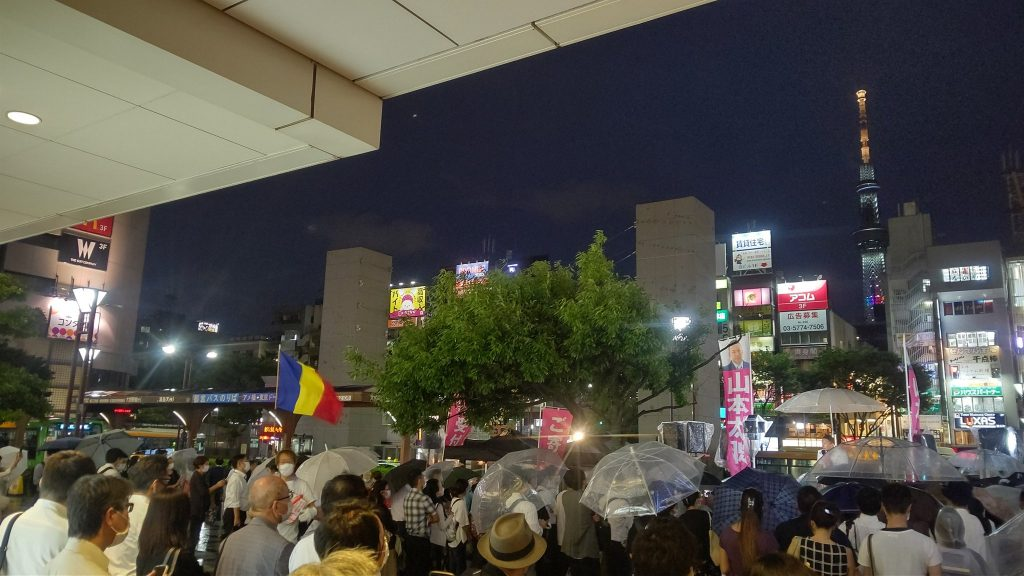 山本太郎と知事選に創価の旗